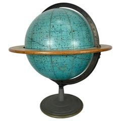 "Mid Century 16"" Celestial Globe,Zodiac by Denoyer-Geppert.,, 1956"