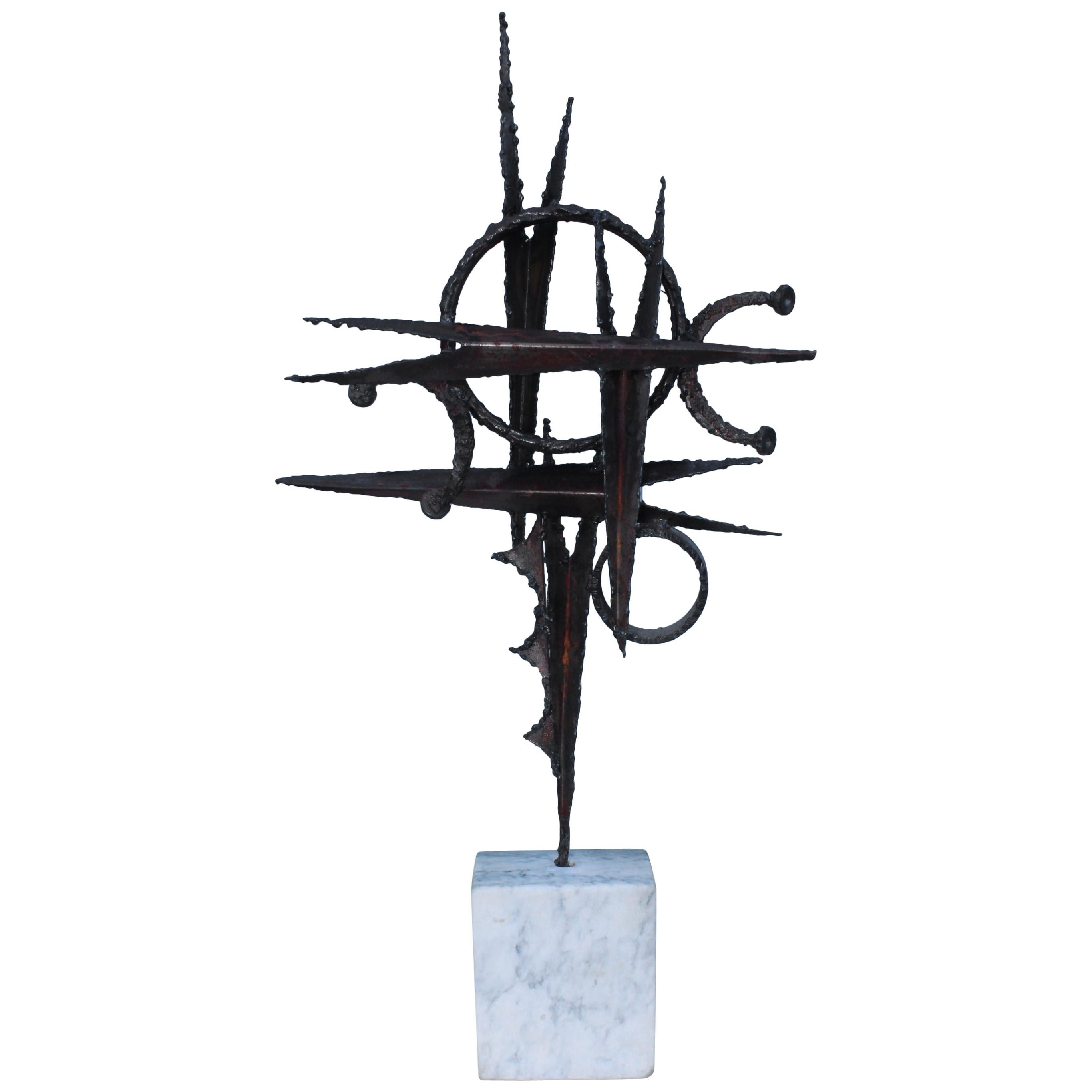 1970s Steel Abstract Table Sculpture