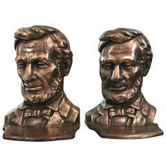 Pair of Lincoln Iron Bookends