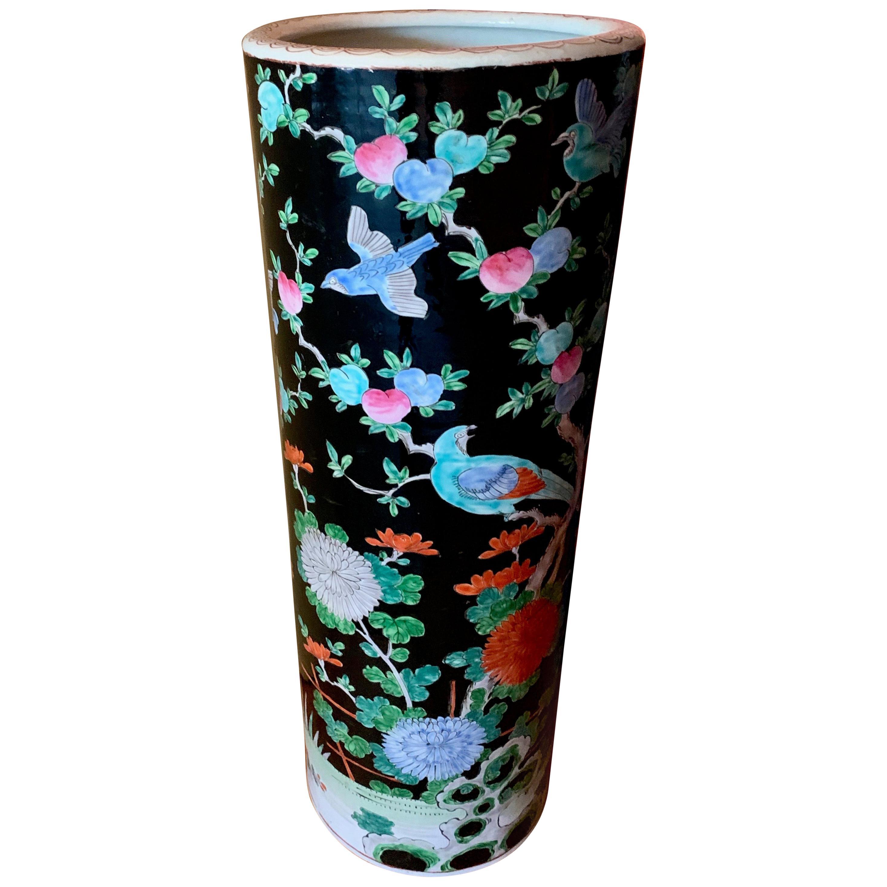 Porcelain Chinese Umbrella Stand Vase