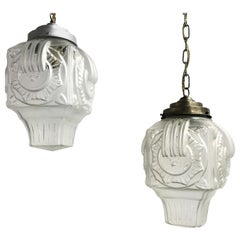 Art deco pendant lights 1930s