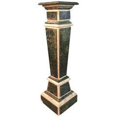 Marble Pillar Column in Louis Seize XV Style