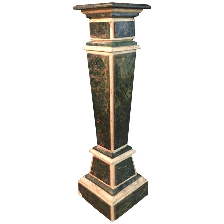Marble Pillar Column in Louis Seize XV Style For Sale