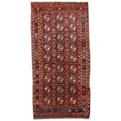Handmade Antique Kurdish Style Rug, 1920s, 1C499