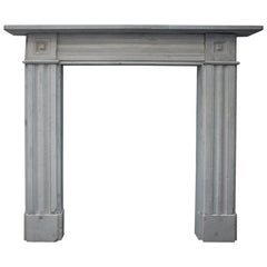 Regency Carved Stone Fireplace Surround from Solid Grey York Stone