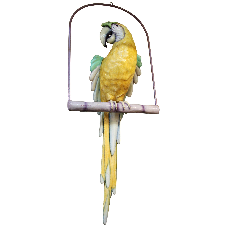 Sergio Bustamante Monumental Parrot On Perch