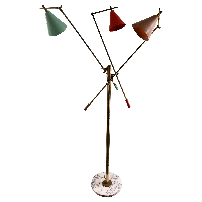 Three-Arm Floor Lamp by Stilnovo
