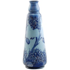 Early William Moorcroft for James Macintyre Blue Florian Ware Vase Lilac Pattern