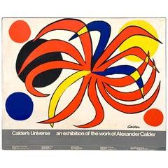"Alexander Calder Exhibition Museum Billboard ""Calder's Universe"", 1977"