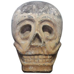 Mexican Day of The Dead Dia De Los Muertos Carved Oak Memento Mori Skull