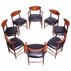 Set of Eight Teak Dining Chairs by Peter Hvidt and Orla Mølgaard Nielsen