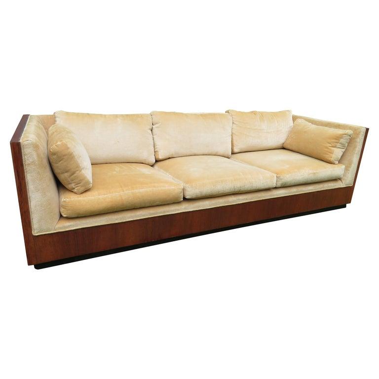 Stunning Milo Baughman Rosewood Case Sofa Mid-Century Modern For Sale