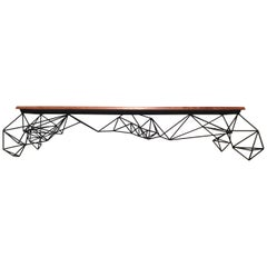 Sculptural Modern Geometric Custom Designed and Fabricated Coffee Table