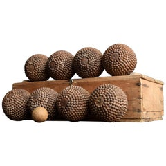 Full Set of French Petanque Boules, circa 1900