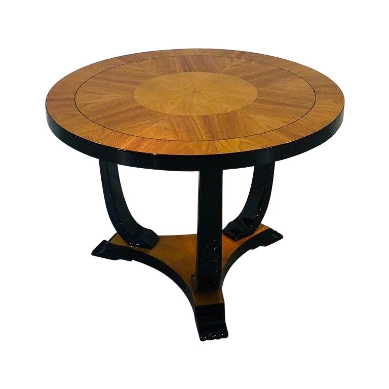 Art deco end table made of ash and cherry wood paris 1930s for sale at 1stdibs - Deco table paris ...
