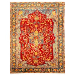 Rug of Great Dimensions, with Classical Design of Branches and Flowers