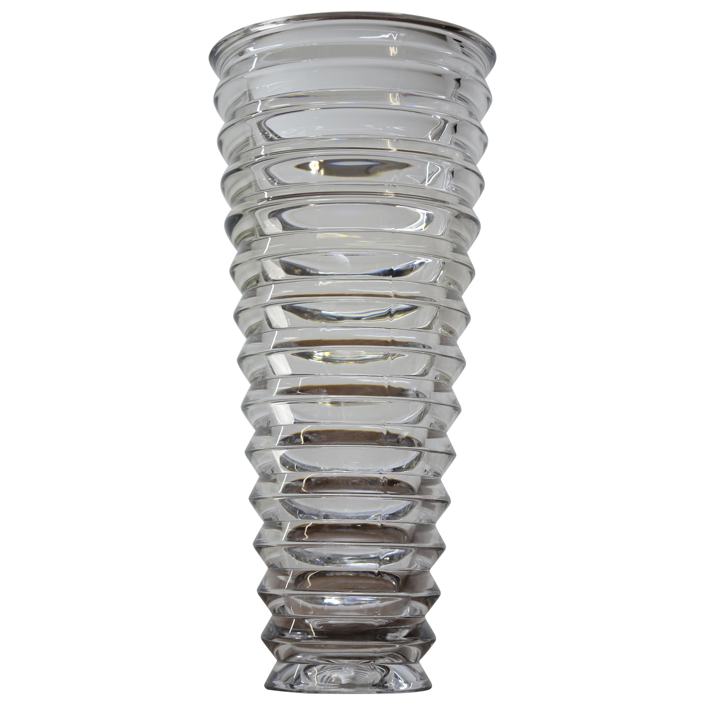 Glass Vase, Czech Art Glass, 2000s