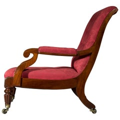 Oversized Regency Library Armchair, Attributed to Gillows