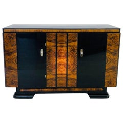 Walnut and Macassar Art Deco Sideboard from, Germany, 1940s