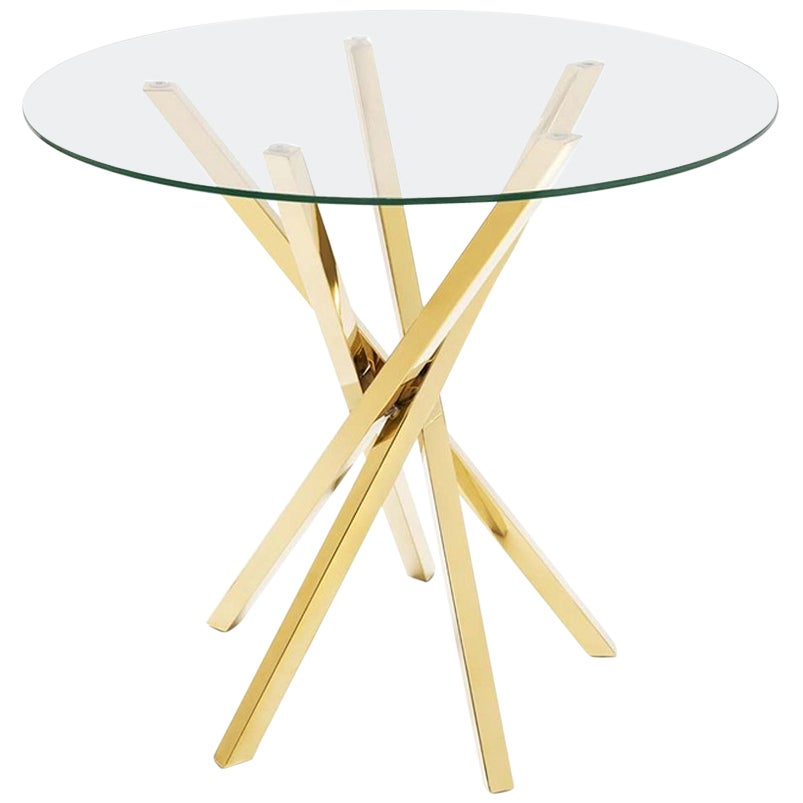 Eclipse Side Table in Gold Finish