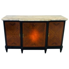 1920s Art Deco Sideboard or Commode with a White Marble Top