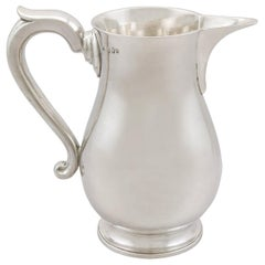 Antique George III Irish Sterling Silver Beer / Water Jug, 1794