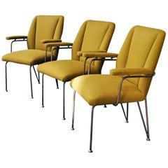 Three Italian Vintage Armchairs, 1950s