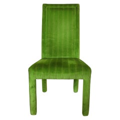 Set of 8 Dining Chairs in Vintage Classic Green Color
