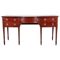 Antique English Hepplewhite Style Mahogany Sideboard Buffet