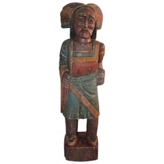 Cigar Store Indian Hand Carved and Painted, Counter