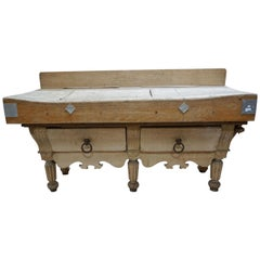 Antique French Butcher Block