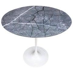 Eero Saarinen for Knoll Elliptical Marble Tulip Table Side Table
