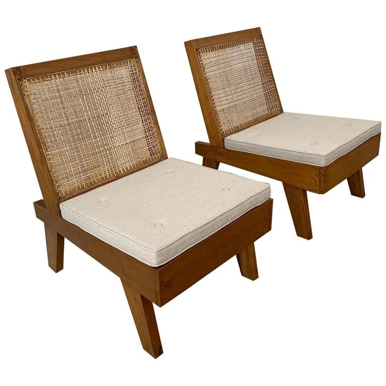 Pierre Jeanneret Rare Folding Easy Chairs from Chandigarh, circa 1960 For Sale