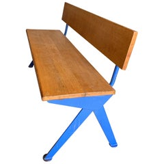 Jean Prouvé Marcoule Bench from the CEA, Marcoule, circa 1954