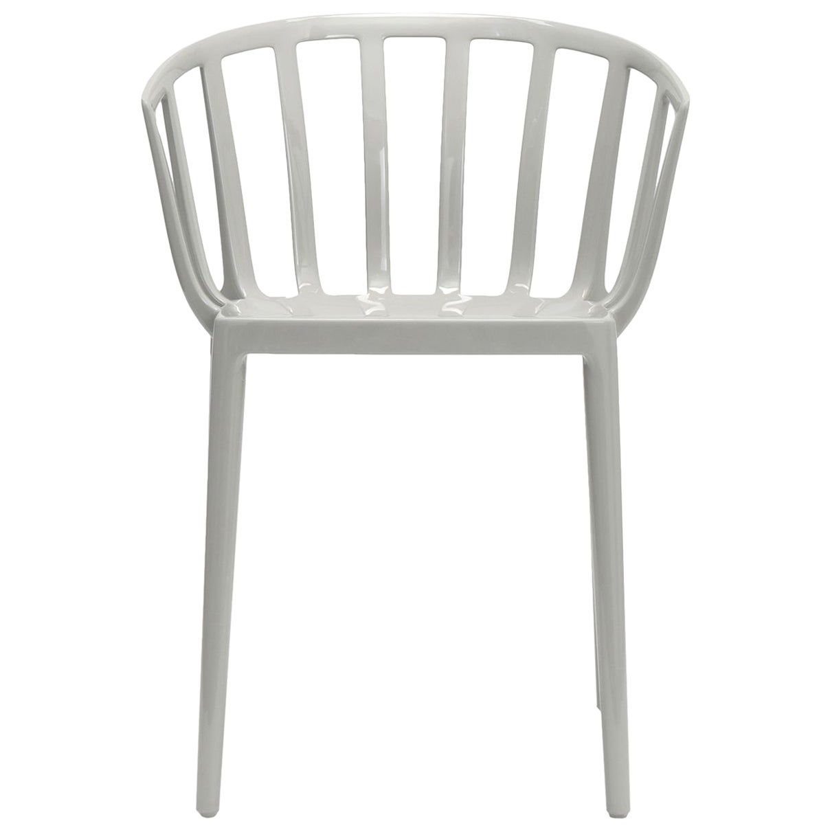 Set of 2 Kartell Venice Chairs in Grey by Philippe Starck