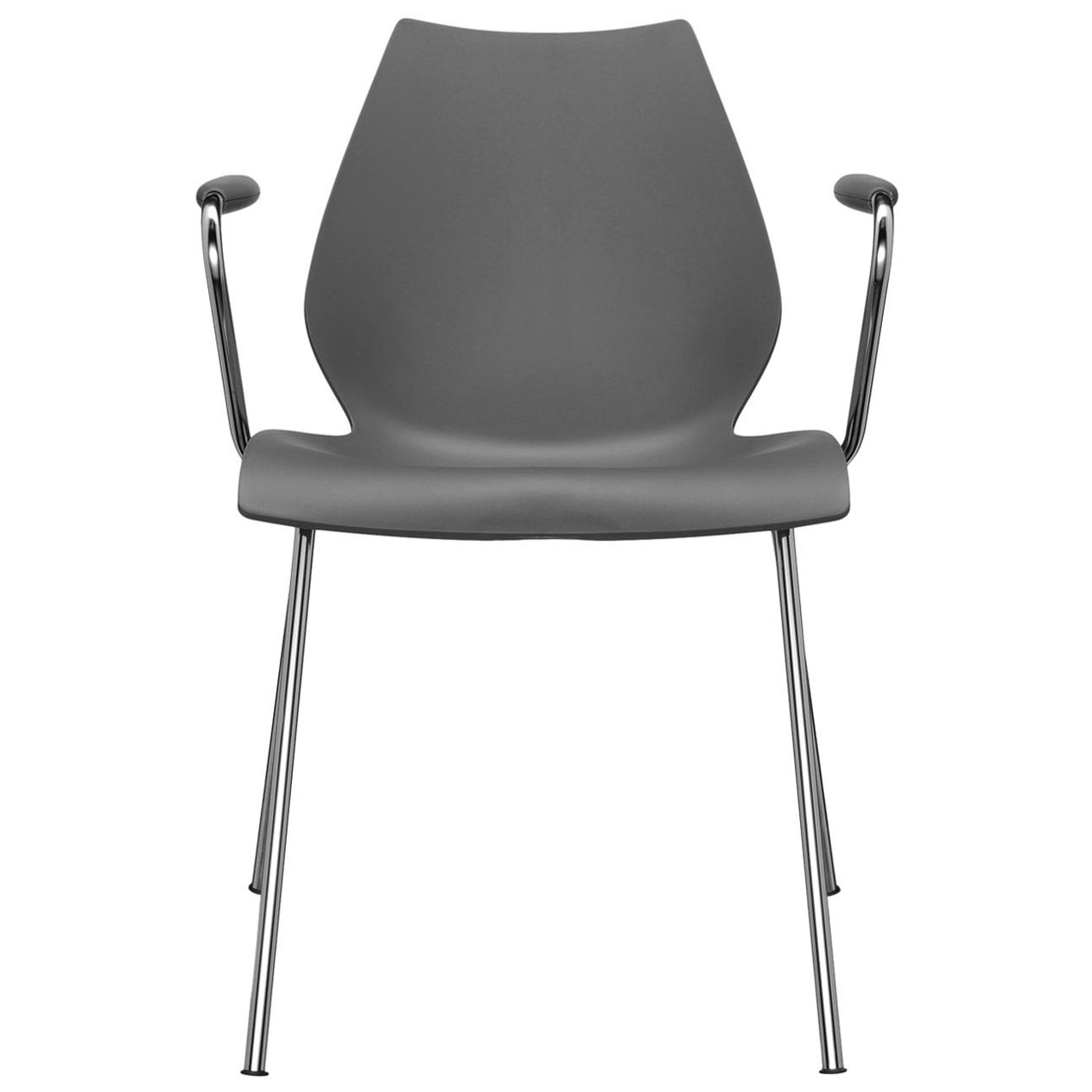 Kartell Maui Armchair in Anthracite by Ludovica and Roberto Palomba