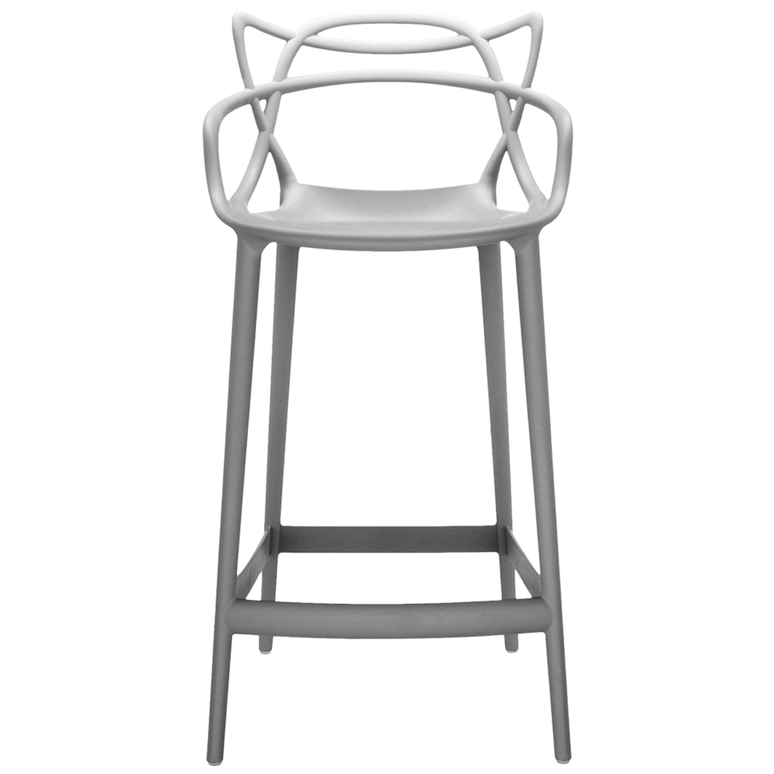 Kartell Masters Bar Stool in Grey by Philippe Starck & Eugeni Quitllet