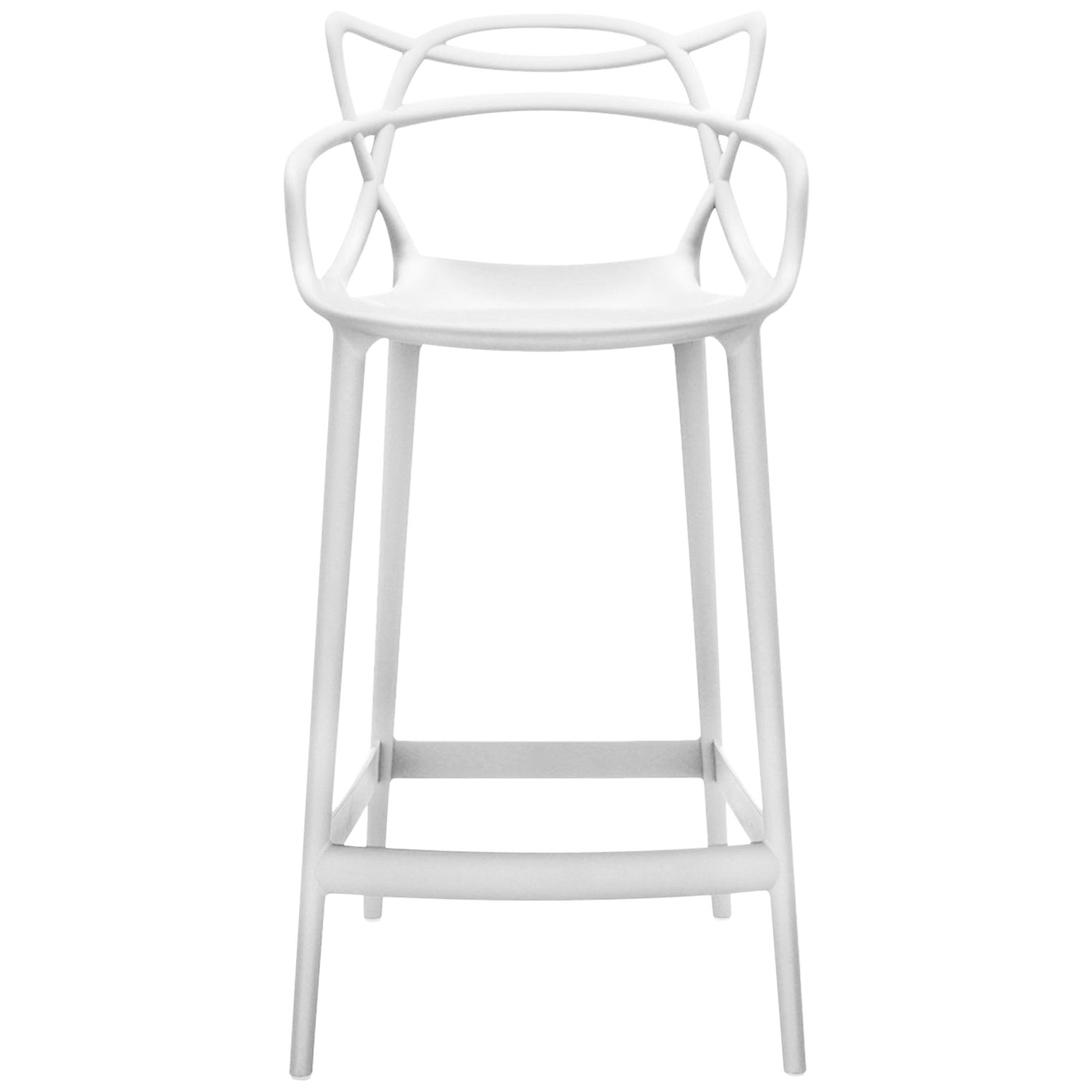 Kartell Masters Bar Stool in White by Philippe Starck & Eugeni Quitllet