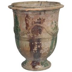 Antique French Anduze Style Garden Vase, Pot or Planter, circa 1862