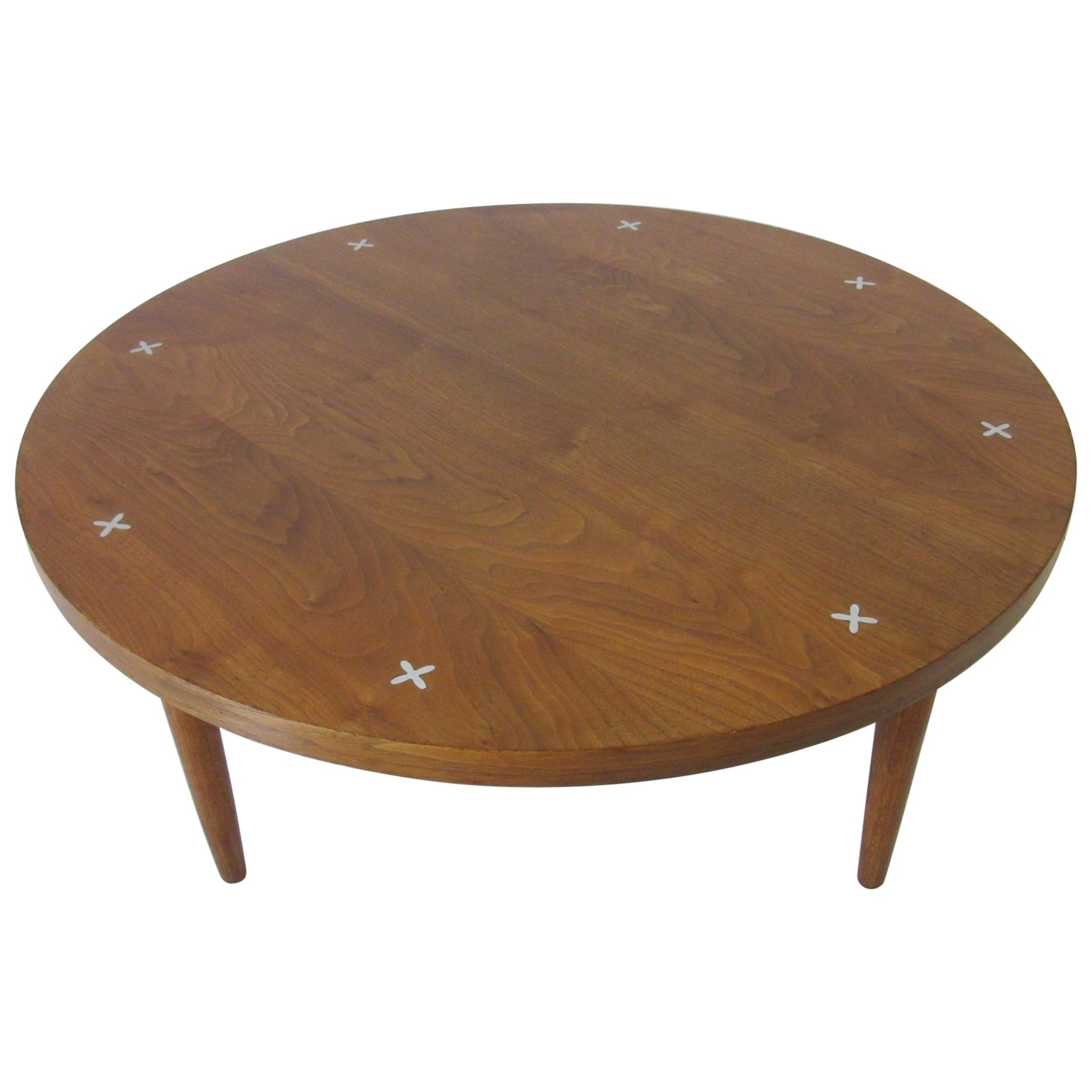 Walnut Coffee Table by Merton Gershun for American of Martinsville