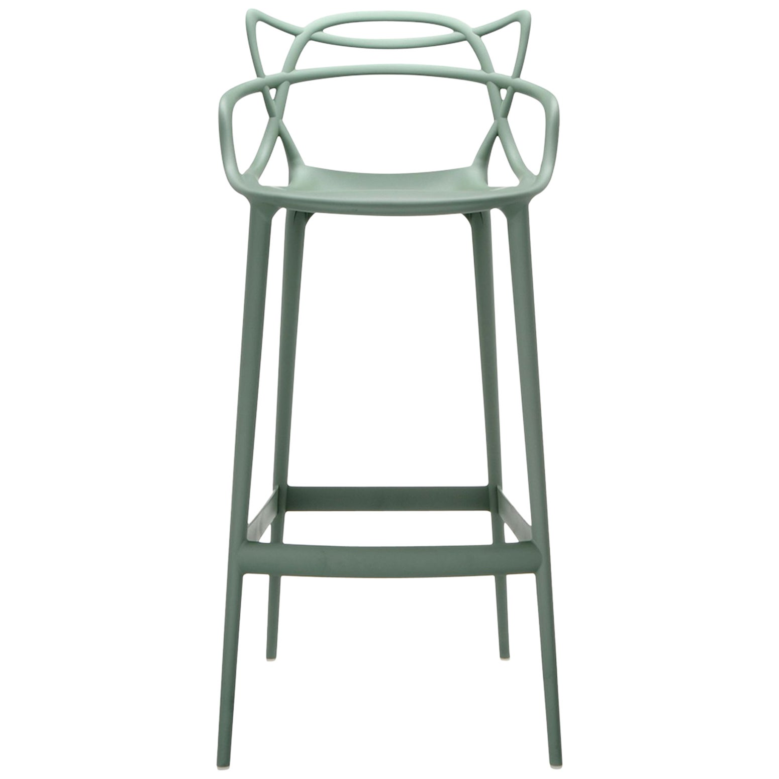Kartell Masters Bar Stool in Sage Green by Philippe Starck & Eugeni Quitllet