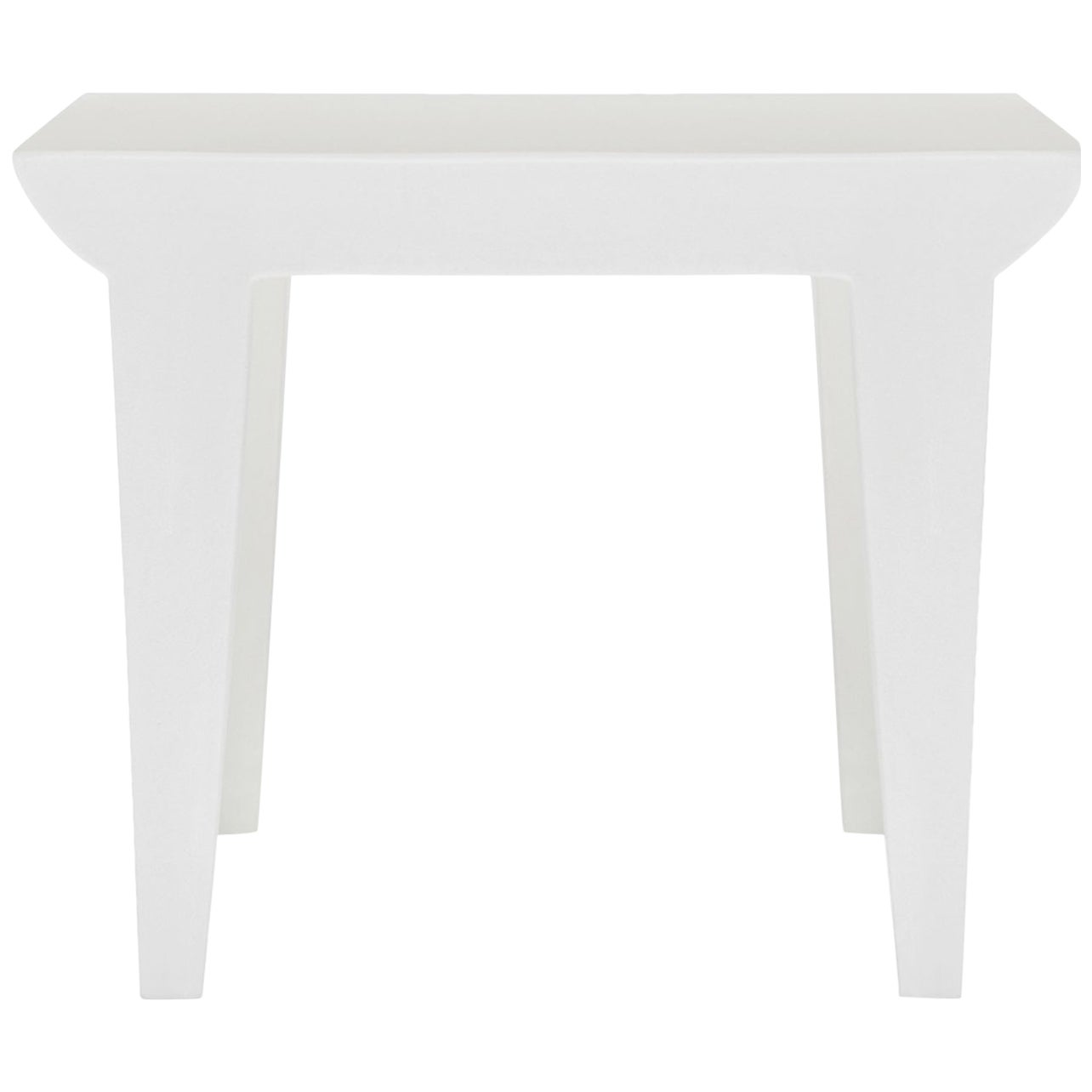 Kartell Bubble Club Side Table in Zinc White by Philippe Starck