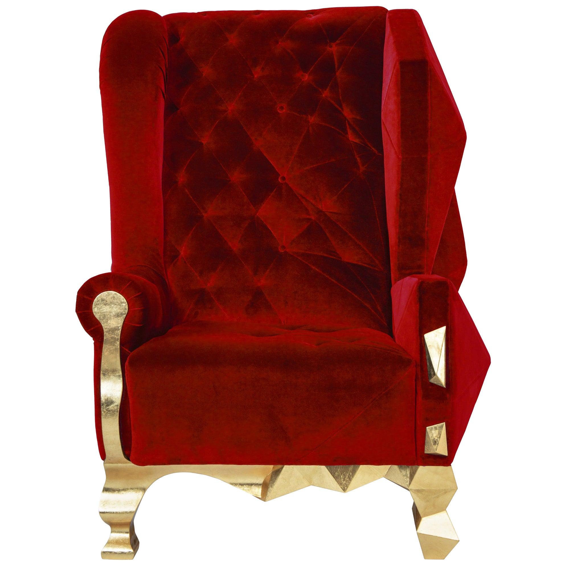 Velvet Ruby Armchair by Royal Stranger