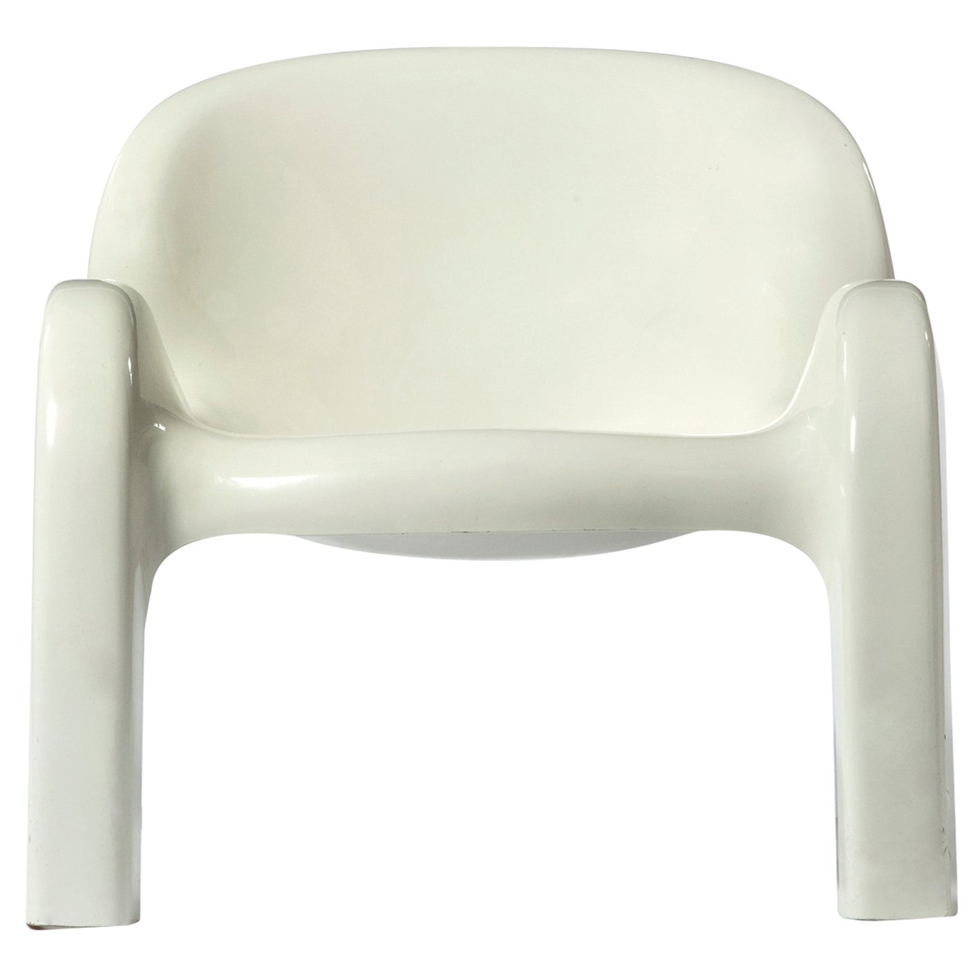 GN2 White Plastic Lounge Chair by Peter Ghyczy, 1970