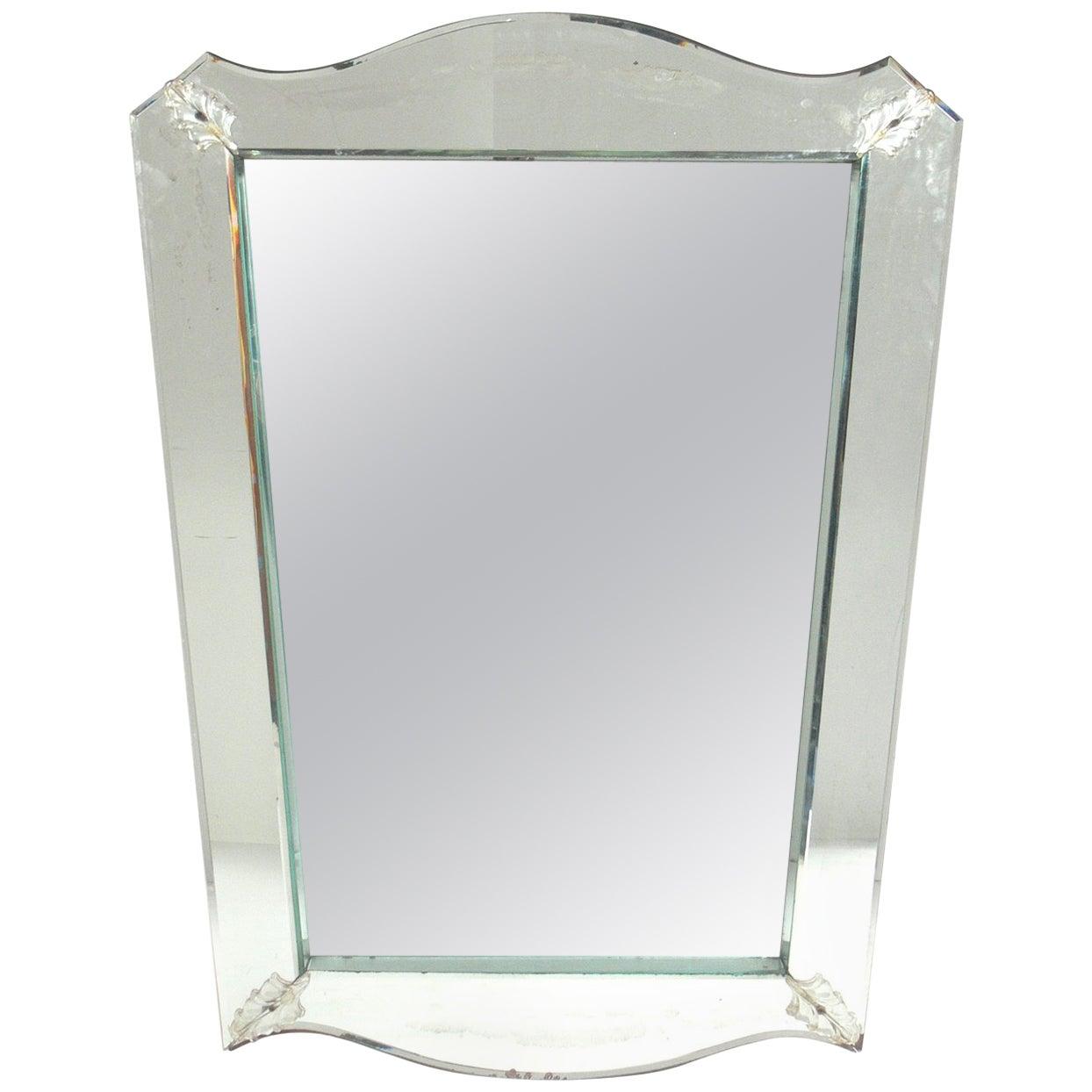 Elegant Venetian Shadowbox Mirror, circa 1940s