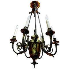 19th Century French Napoleon III Gilt Bronze Chandelier