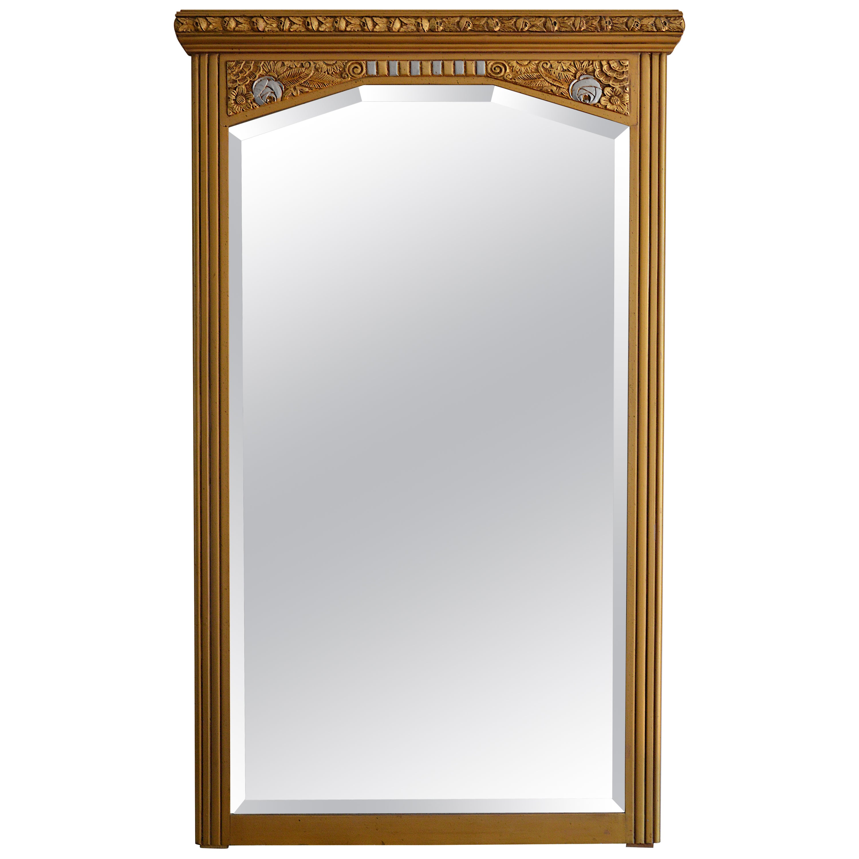 Large french art deco wall mirror 1933 for sale at 1stdibs
