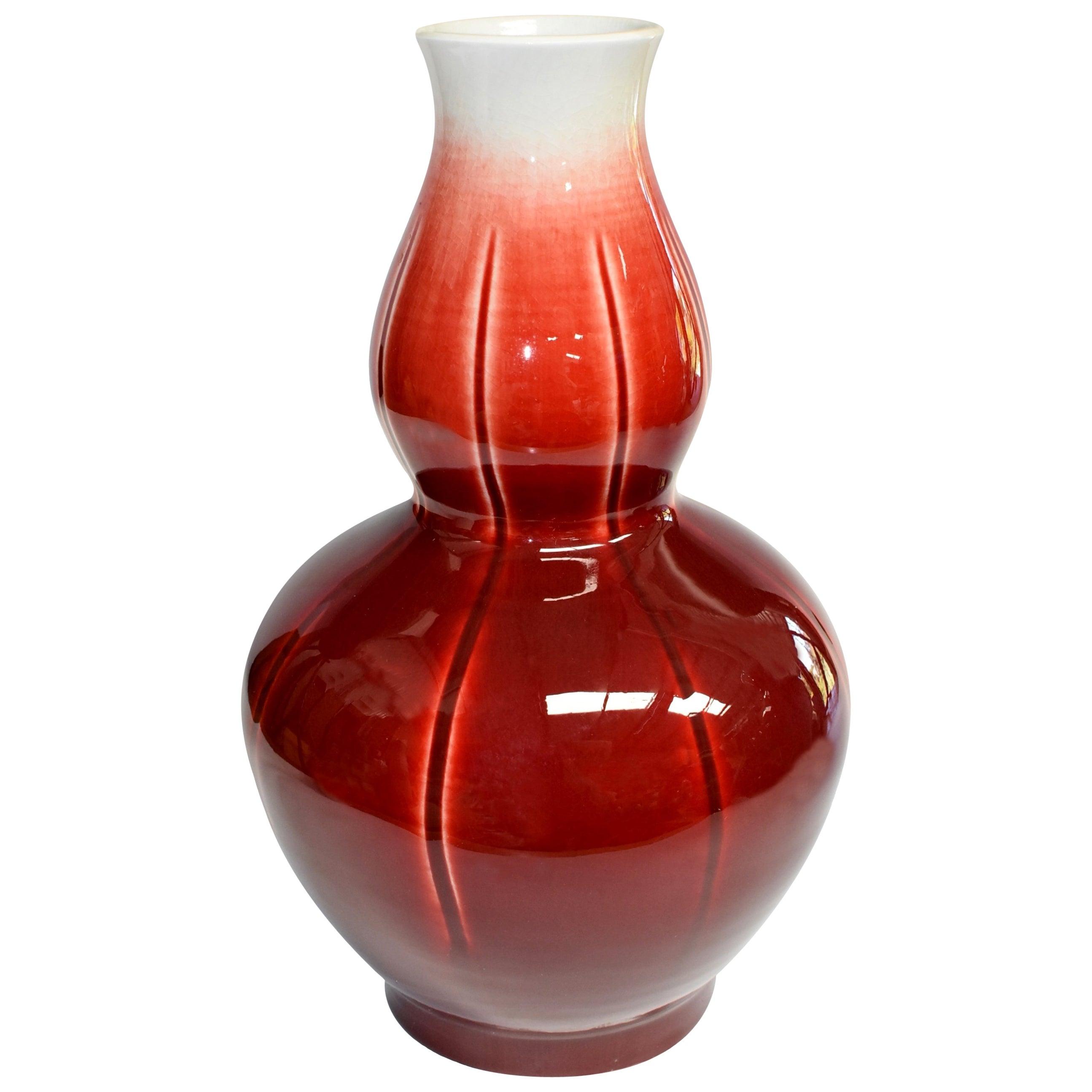 Chinese Sang De Boeuf Oxblood Red Porcelain Vase