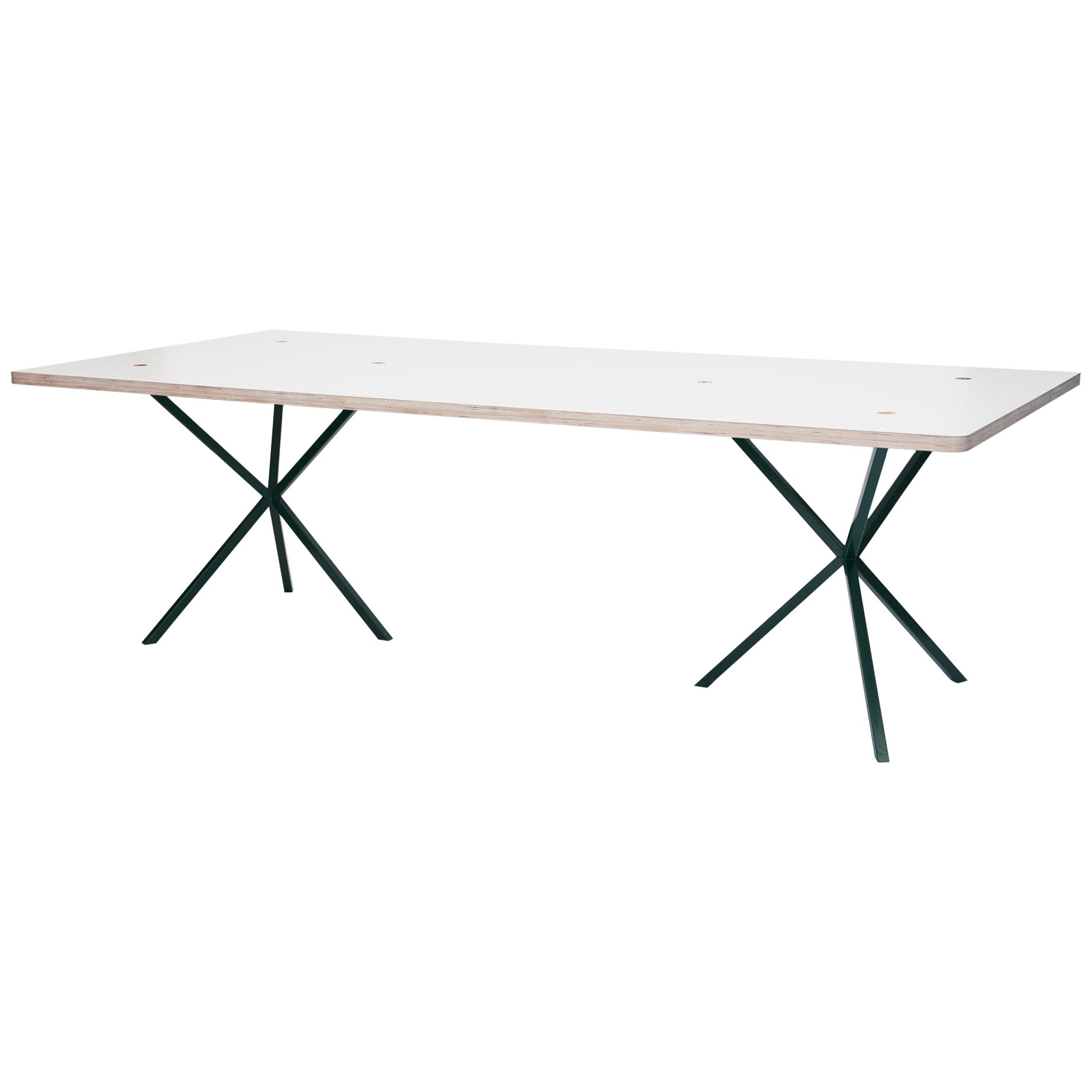 Neb Contemporary Dining Table with Laminate Top and Metal Legs by Per Soderberg