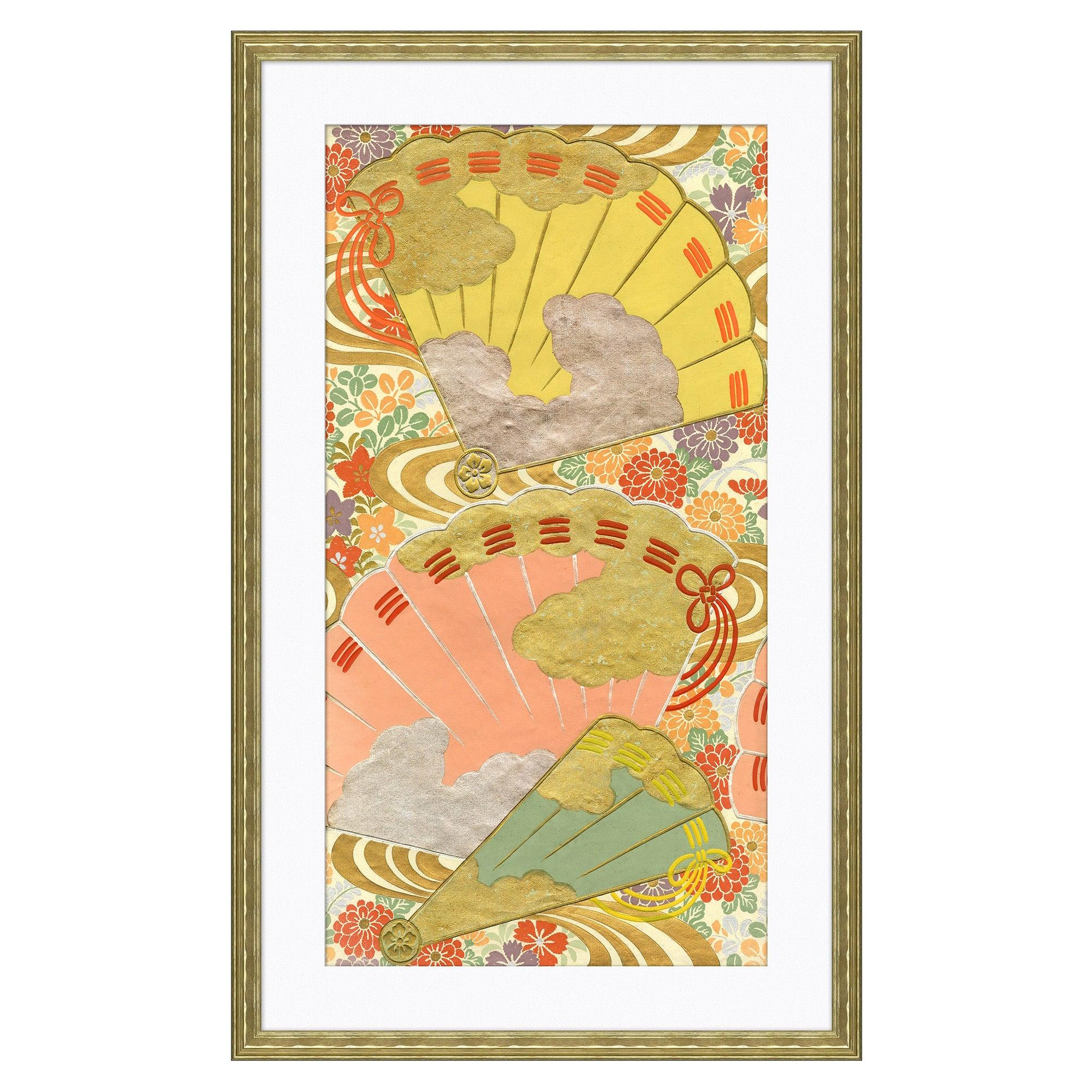 Gilded Fans I Japanese Print by CuratedKravet